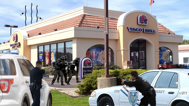 BREAKING: Man threatens to blow up Taco Bell bathroom