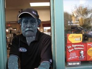 Retired Robert E. Lee statue working KFC Drive-Thru - Confederate statues New Orleans news - Neutral Ground News