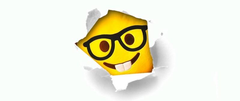 Smiley nerd thanking you - Neutrino Burst!