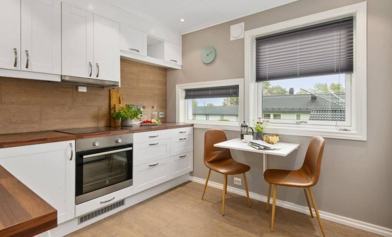 Feng Shui kitchen with a wooden touch