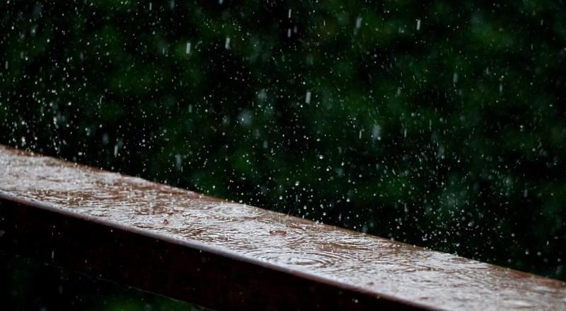 Heavy rainfall beautiful shot