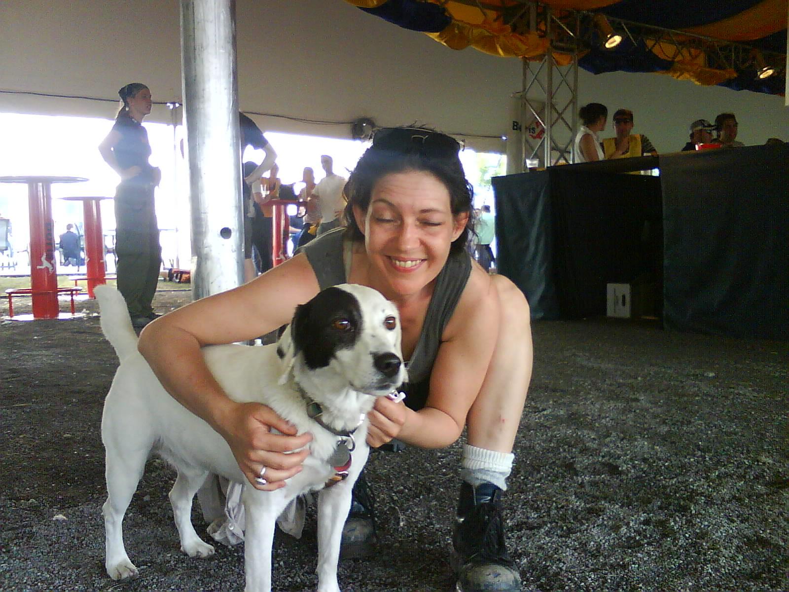 Saku et sa nourricière du Cirque du Soleil, 16 juin 2009, Montréal.