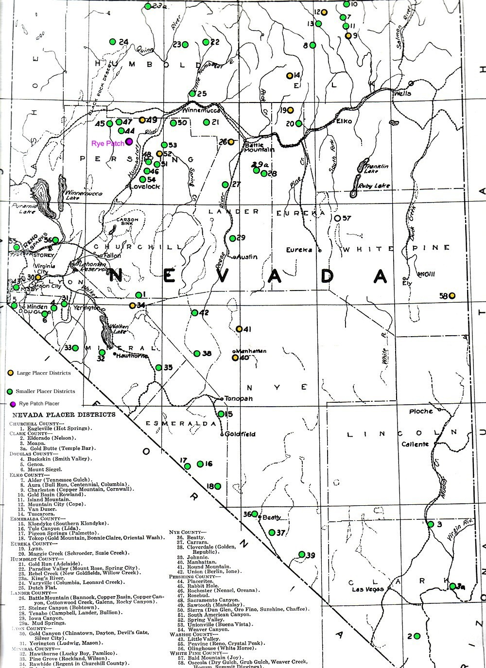 nevada rockhounding map