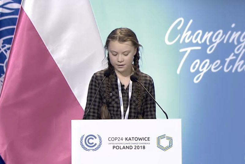 Greta Thunberg Address UN On Climate Change