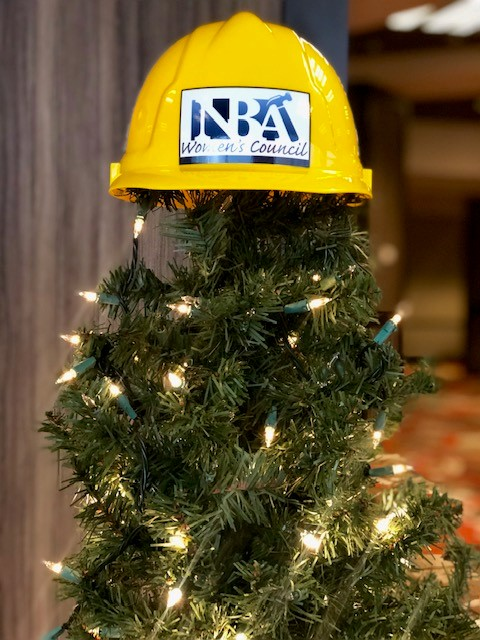 Hard hat tree topper