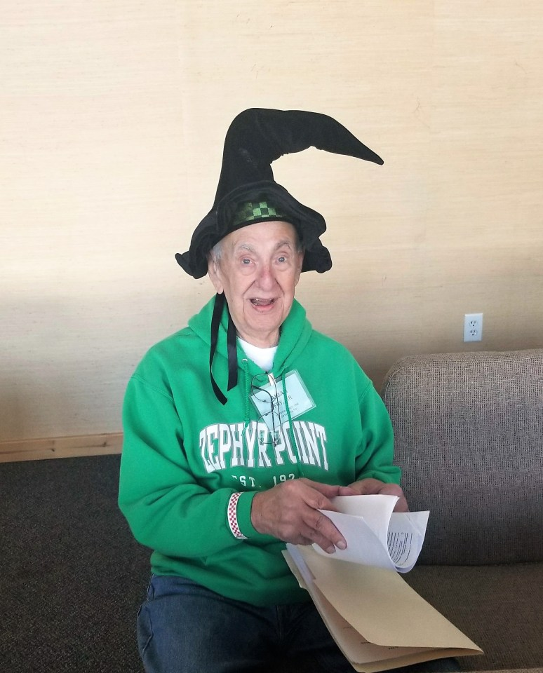 Al Fry with Wizard Hat
