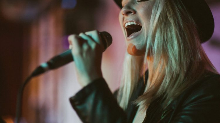 "Photo courtesy of Kinsey Mhire.  Audrey Karrasch performs for a show in Nashville.  The Reno native appeared on the hit television show ""The Voice"" and just released her debut music video, ""Euphoria."""