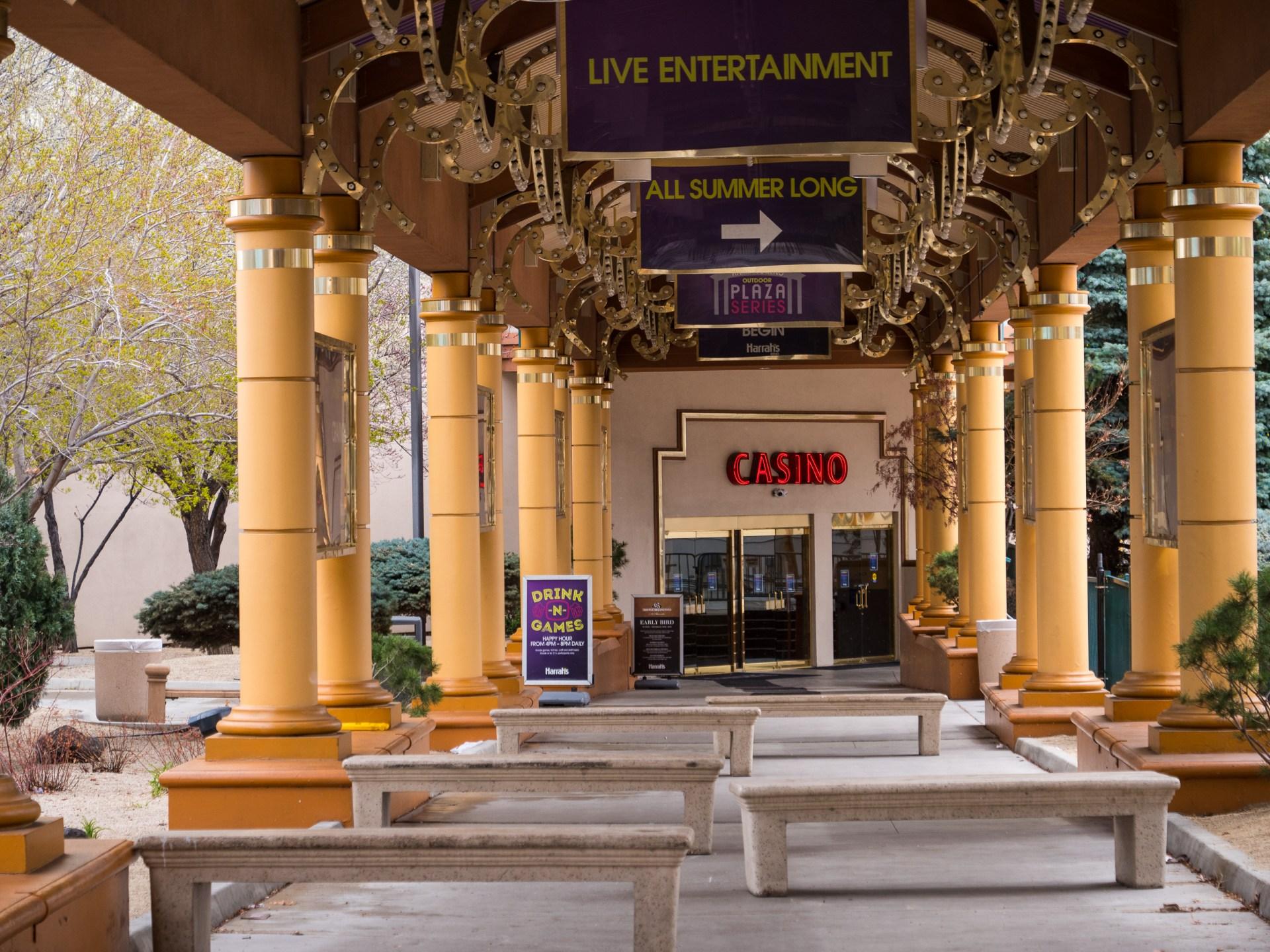 Image: Downtown Reno casinos close or scale back in the wake of COVID-19. Image: Bob Conrad.