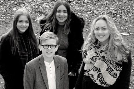 West Yorkshire, family photoshoot, cousins, sisters, brother and sister,black and white, forest, woods, happy family, Nev Chambers Photography