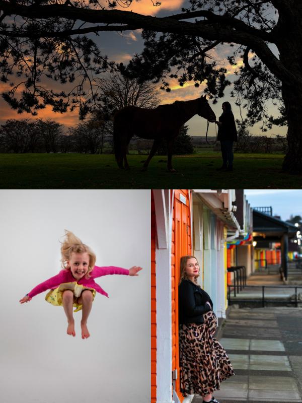horse, child, pregnancy, photoshoot