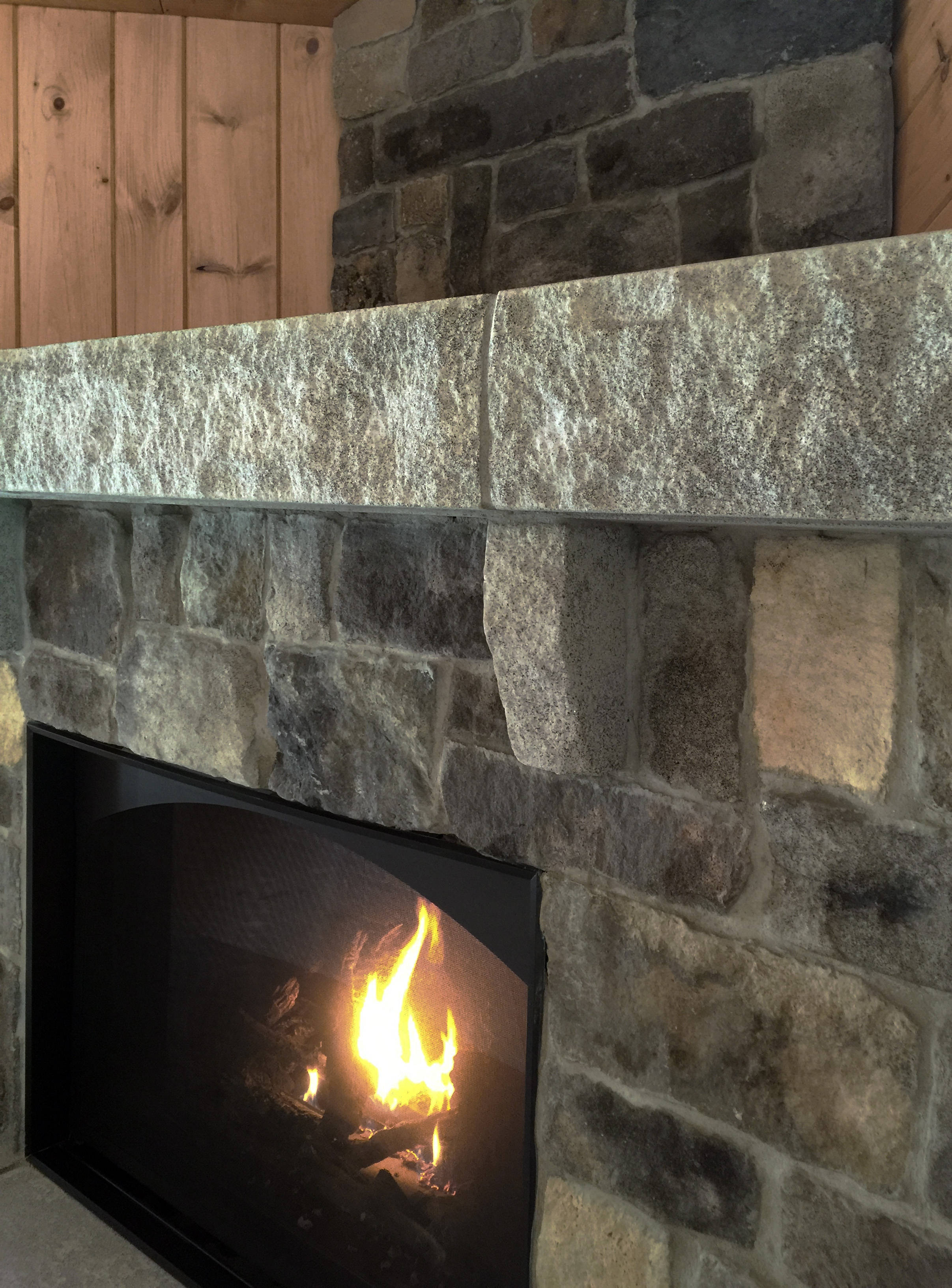 The Acadia Fireplace New England Veneer Stone