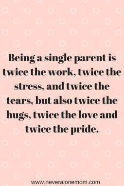 Being A Single Parent | neveralonemom.com