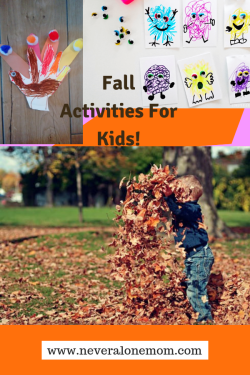 Fun fall activities for kids! | neveralonemom.com