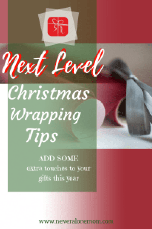 Take your gift wrapping to the next level! | neveralonemom.com