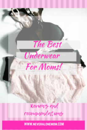 Best underwear for moms! | neveralonemom.com