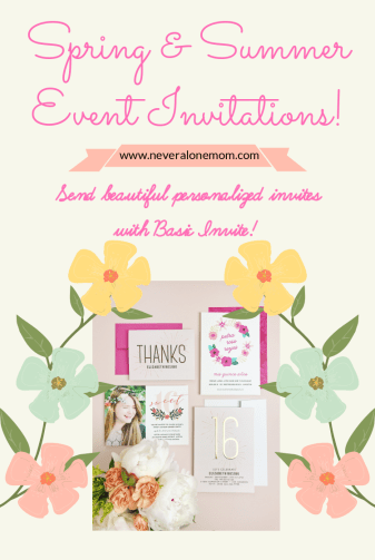 Event invitations with basic invite  neveralonemom.com