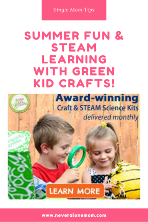 STEAM learning and fun with Green Kid Crafts! |neveralonemom.com