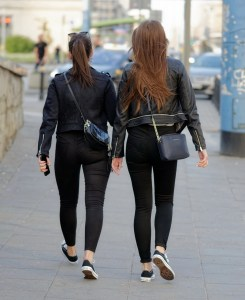 Women in leather jackets - fashion  neveralonemom.com