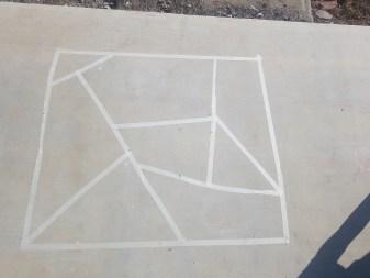 Chalk mosaic step 1 |neveralonemom.com