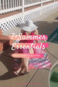 7 summer essentials | neveralonemom.com