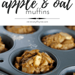 apple and oat muffins in a muffin tin