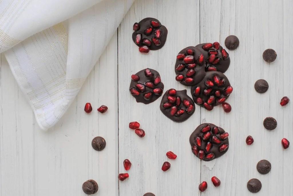 dark chocolate and pomegranate