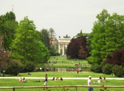 Parco Sempione e Arco della Pace ao fundo