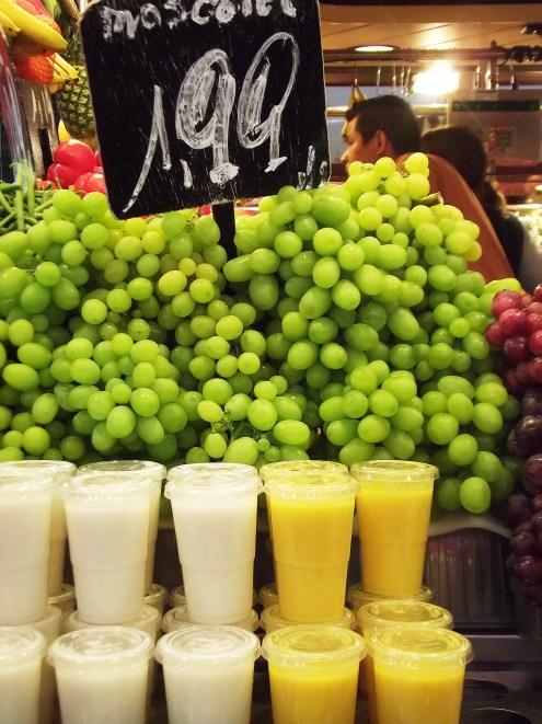 The amazing juices at Mercat La Boqueria