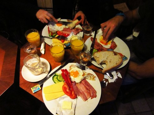 English breakfast in Hungary for just 4 euros