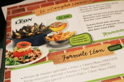 Chez Leon - Our chosen menu