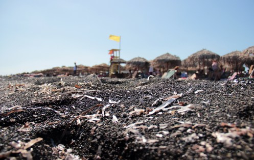 Santorini Series (Gallery 3): Perivolos and Perissa Beach - the black sand under my feet (2)