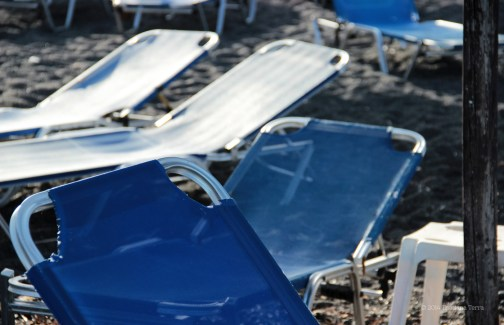 Santorini Series (Gallery 6): Kamari Beach and its straw umbrellas (6)