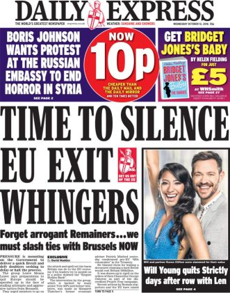 Daily Express, October 12th, 2016
