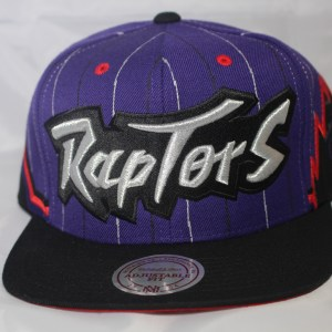 Mitchell and Ness NBA Toronto Raptors 2T 1995 Uniform Away Snapback Cap