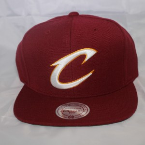 Cleveland Cavs NBA Team Solid C Mitchell and Ness Snapback Cap
