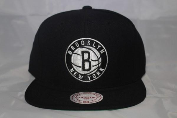 Brooklyn Nets NBA Team Solid Mitchell and Ness Snapback