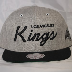 Mitchell and Ness Los Angeles Kings Grey Script NHL Cap