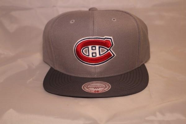 Mitchell and Ness Grey Mega NHL Montreal Canadiens Snapback cap