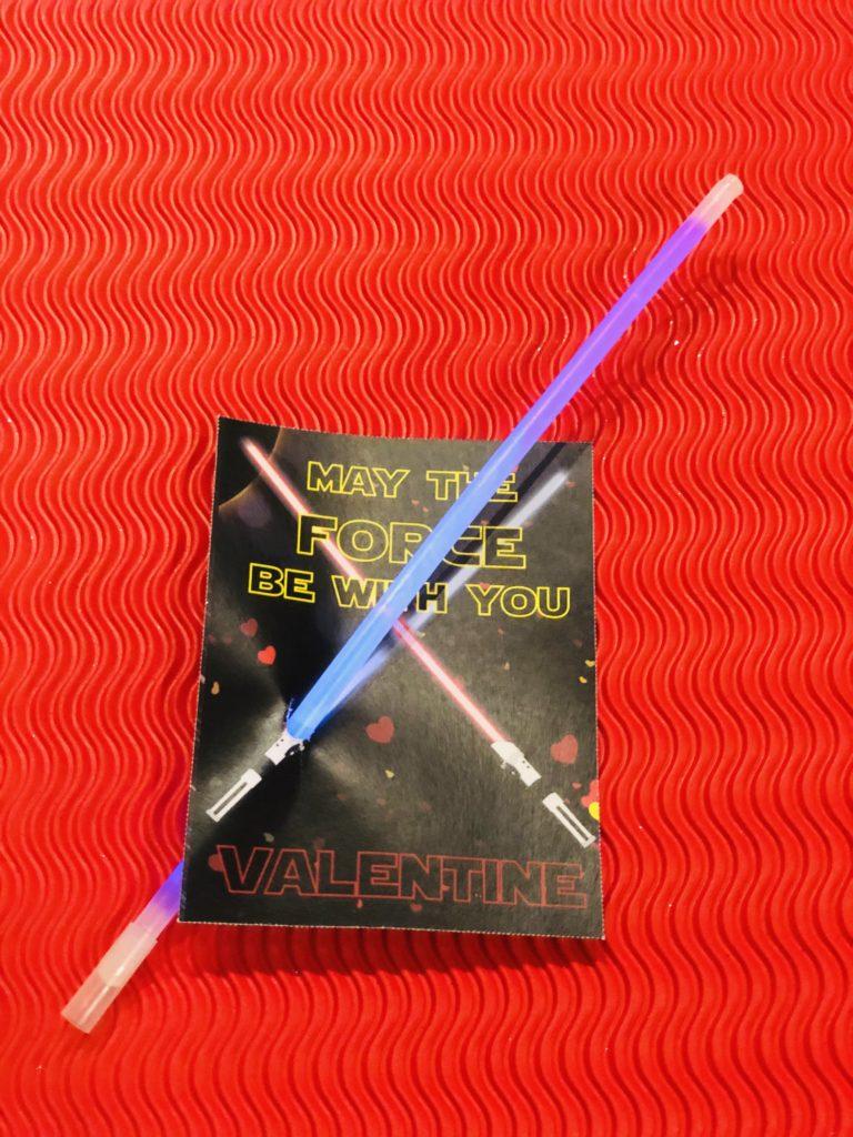 star wars glowstick valentine
