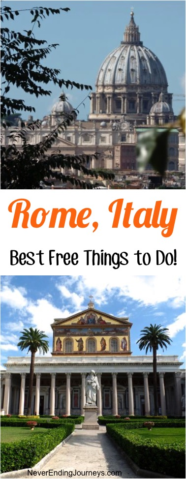 Rome Italy Best Free Things to Do - From NeverEndingJourneys.com