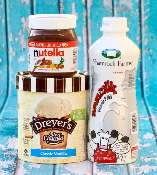 Nutella Milkshake Recipe at NeverEndingJourneys.com