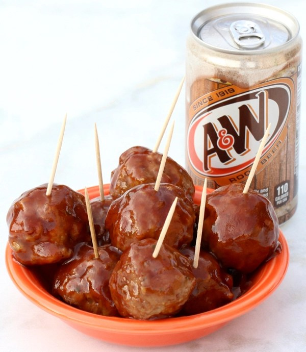 Crockpot Barbecue Root Beer Meatballs