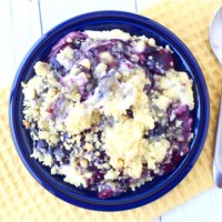 Lemon Blueberry Cheesecake Dump Cake Recipe! (4 Ingredients)