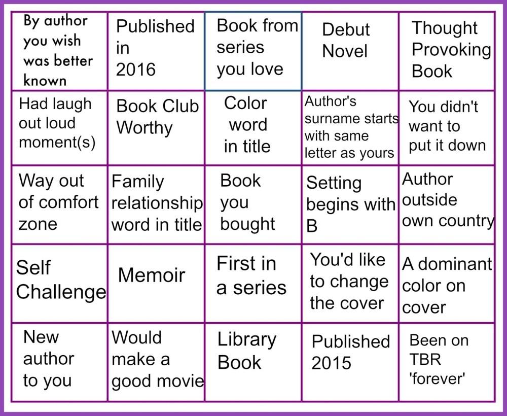 Full House Reading Challenge 2016 (2/3)
