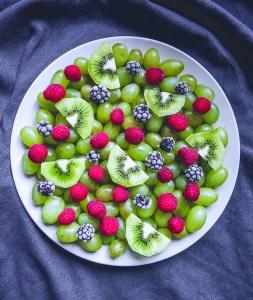Grape & Kiwi Fruit Platter