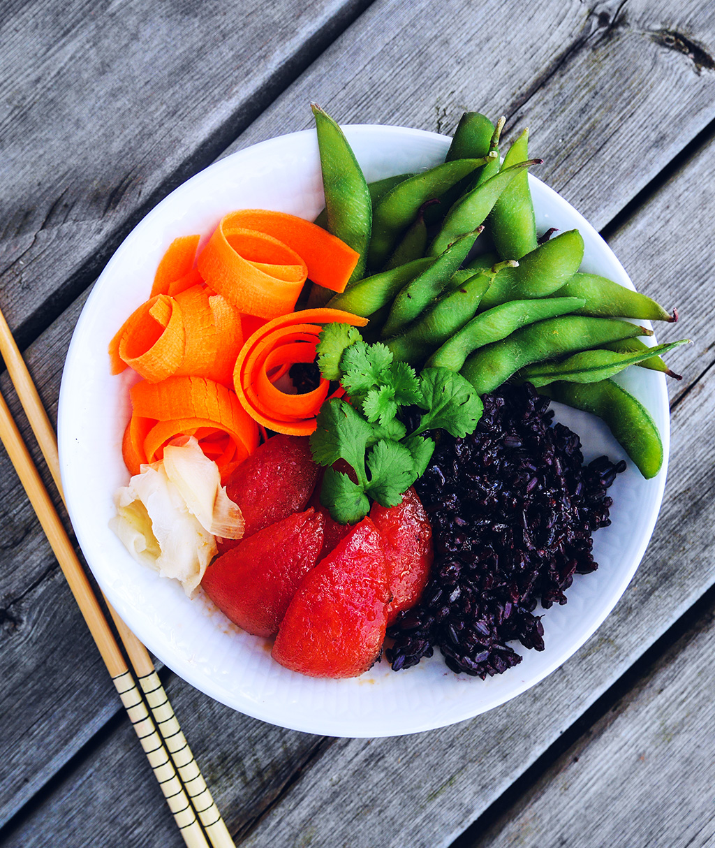 Black Rice Sushi Bowl