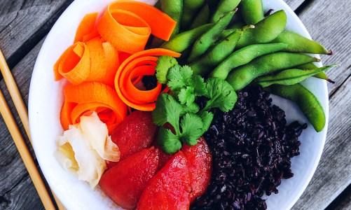 Black Rice Sushi Bowl