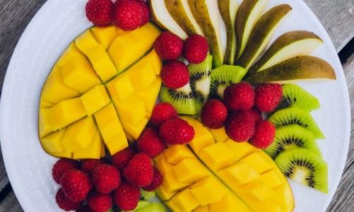 Mango & Raspberry Fruit Platter