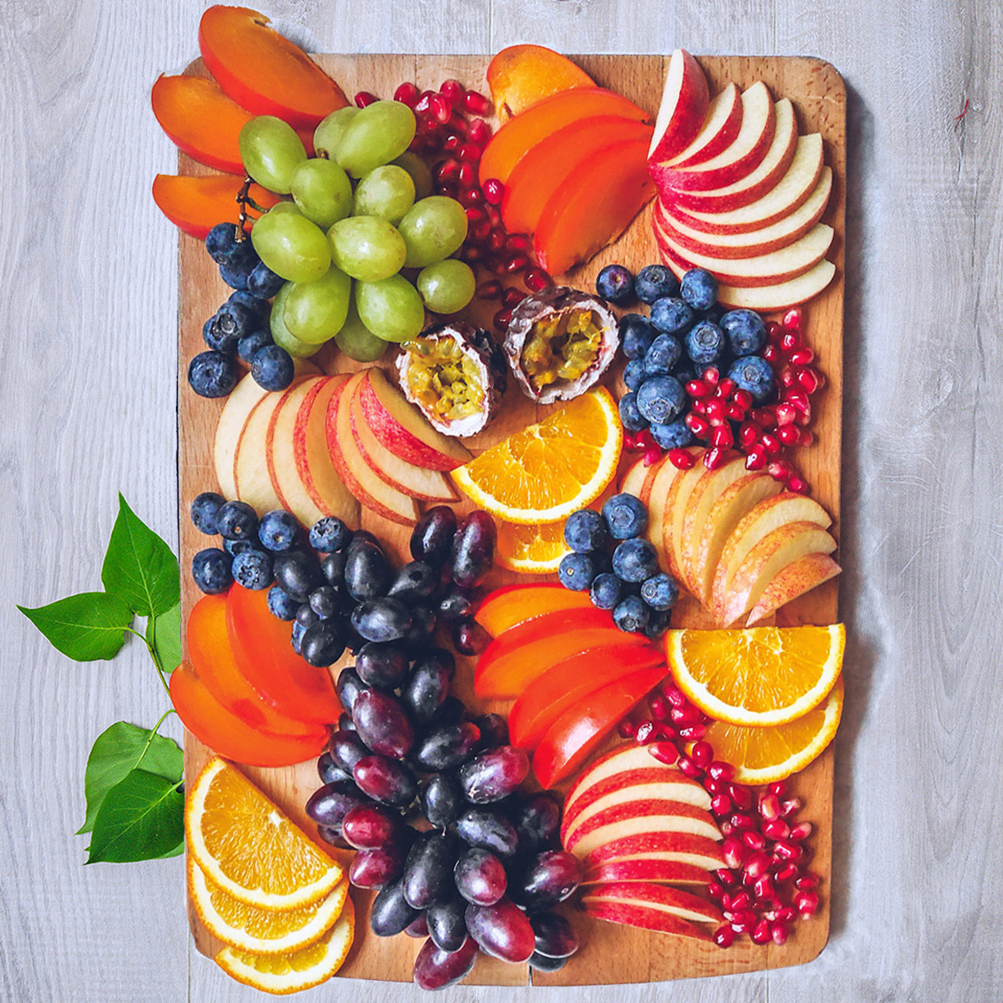 Grape & Persimmon Fruit Platter
