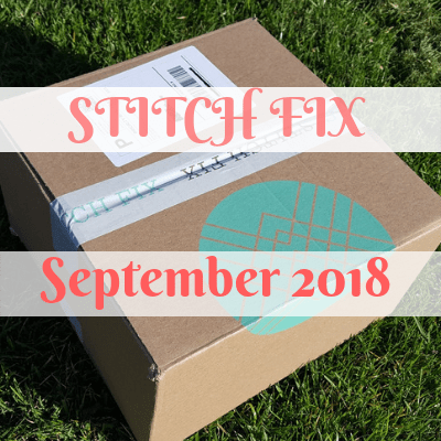 Stitch Fix Review - September 2018